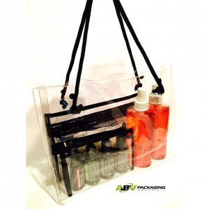 Deluxe Clear Vinyl Open End Tote Bag
